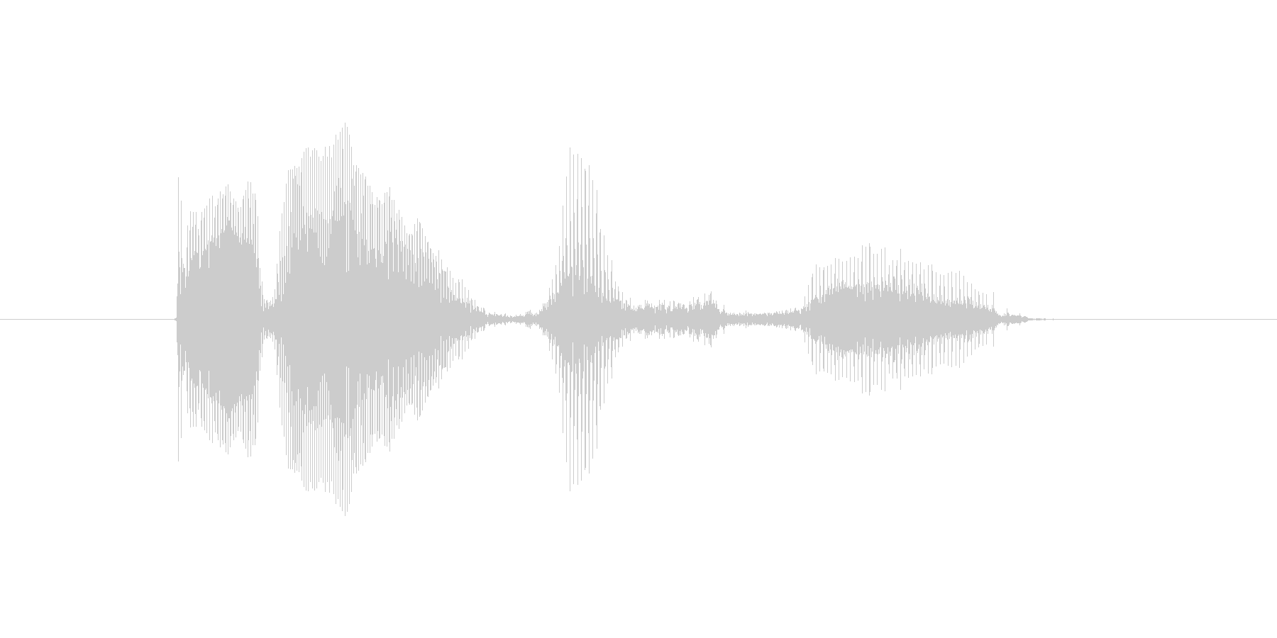 エラー発生の未再生の波形