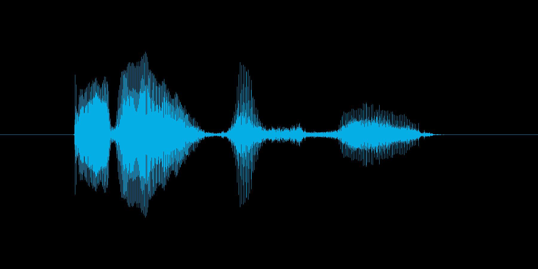エラー発生の再生済みの波形