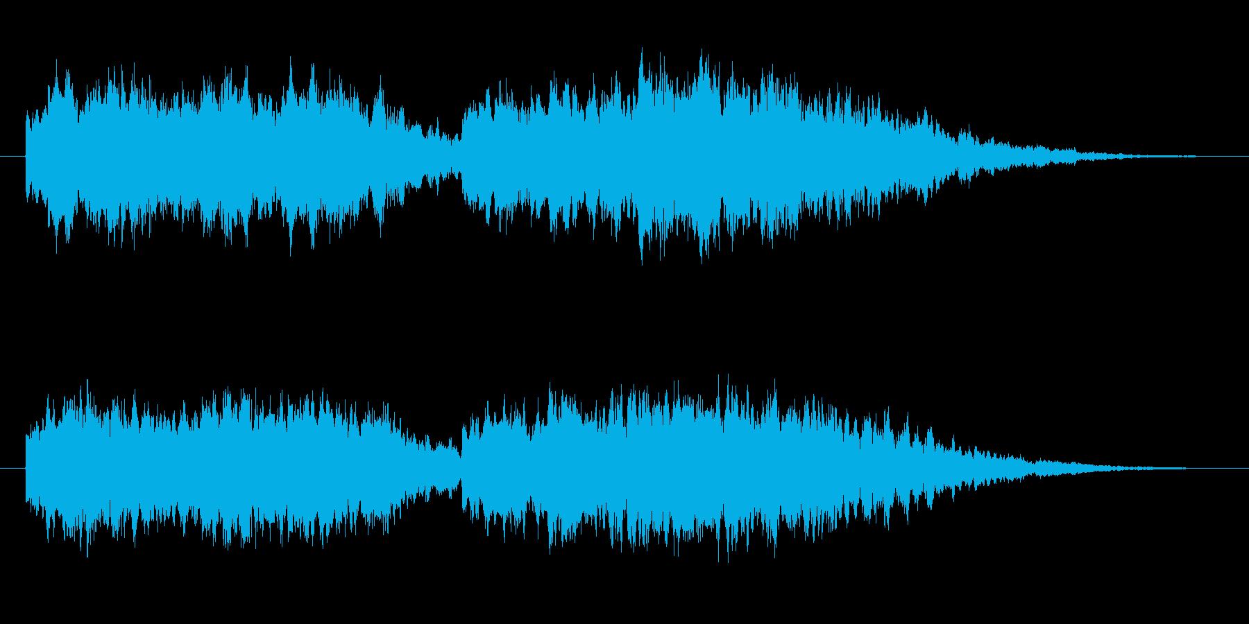 キーンコーンカーンコーンの再生済みの波形