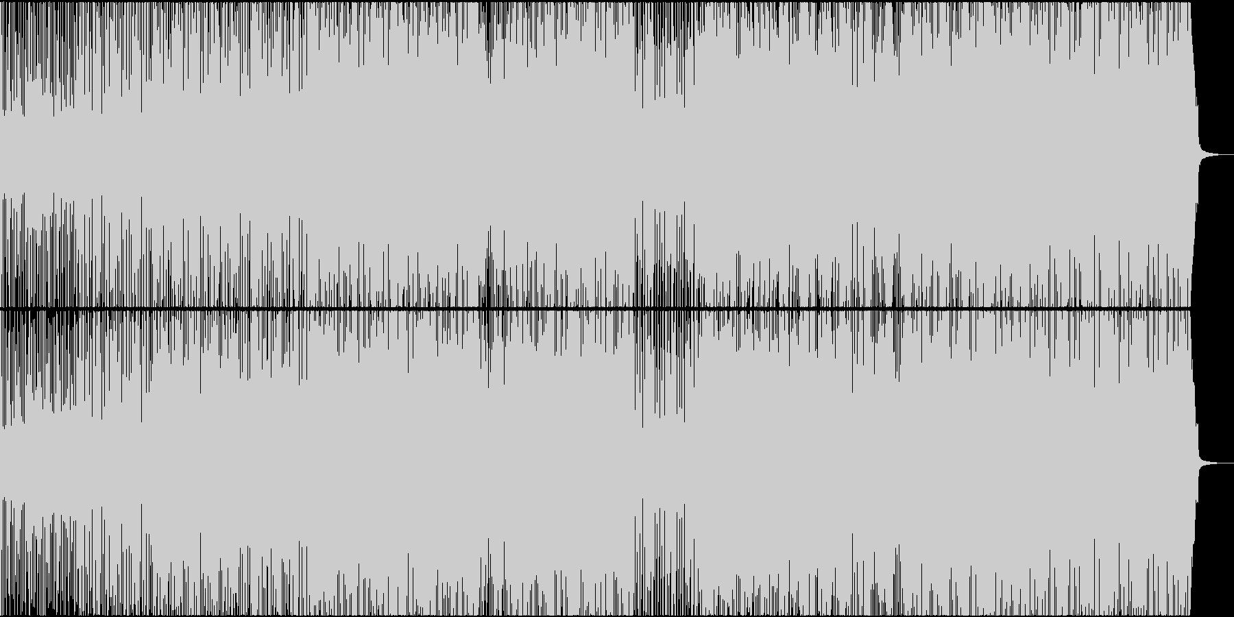 三味線とギターの和風ロックの未再生の波形