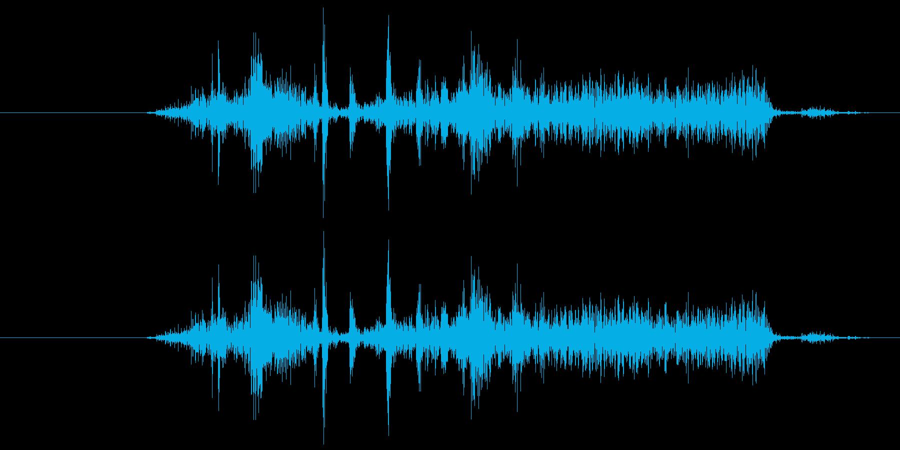 カメラのシャッター音1(カシー)の再生済みの波形