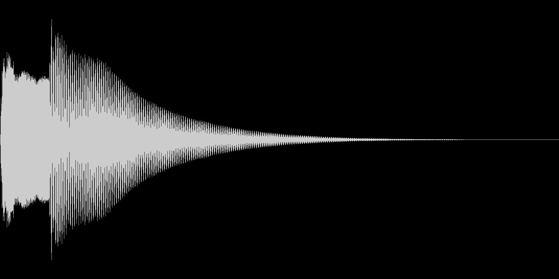 クイズ正解(ピンポーン)の未再生の波形