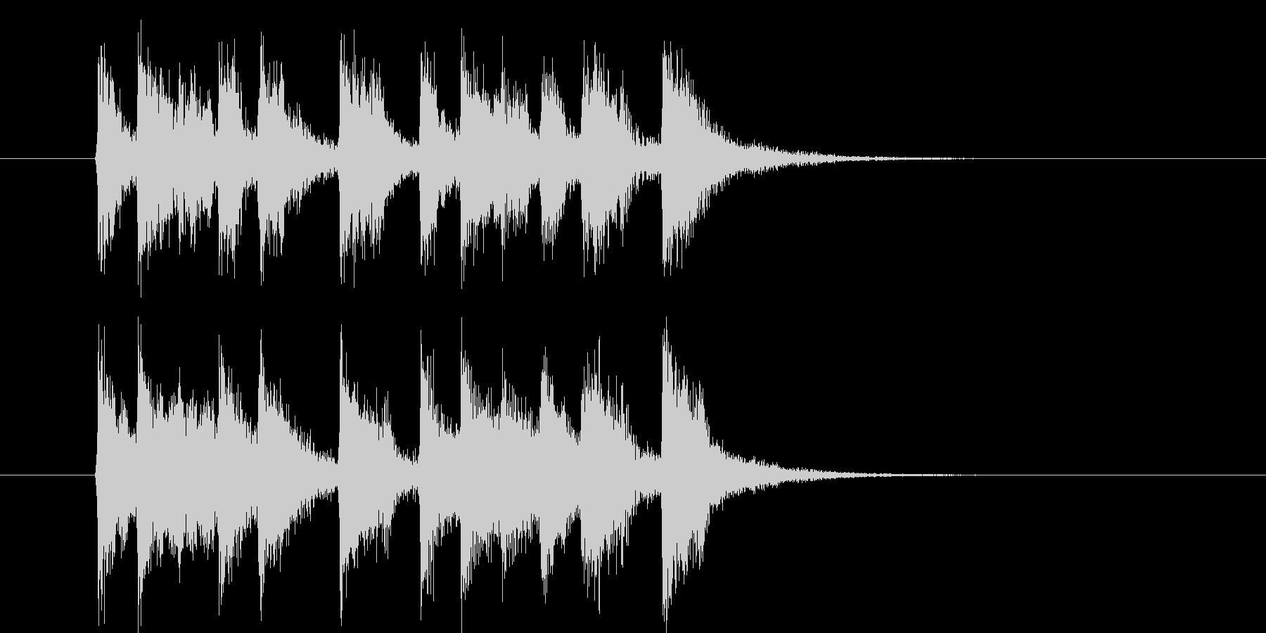 楽しげで明るいシンセサウンド短めの未再生の波形