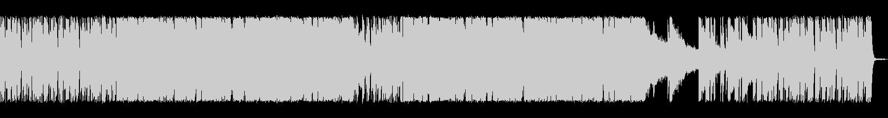 シンセサイザーを使ったテクノ系の曲の未再生の波形