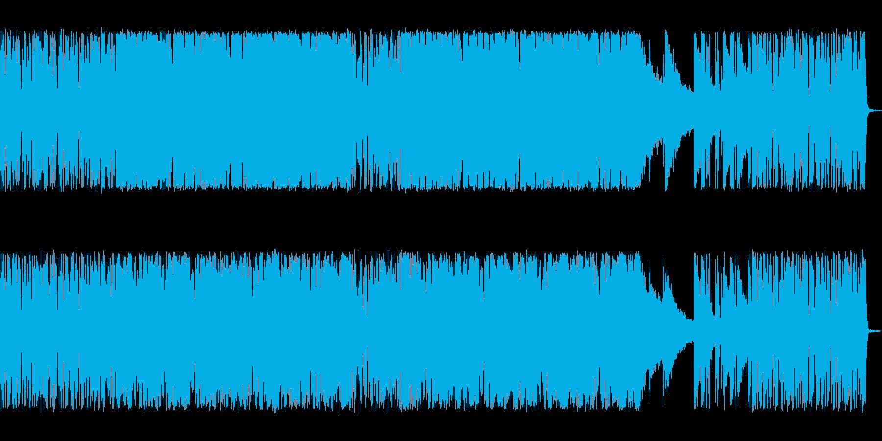 シンセサイザーを使ったテクノ系の曲の再生済みの波形