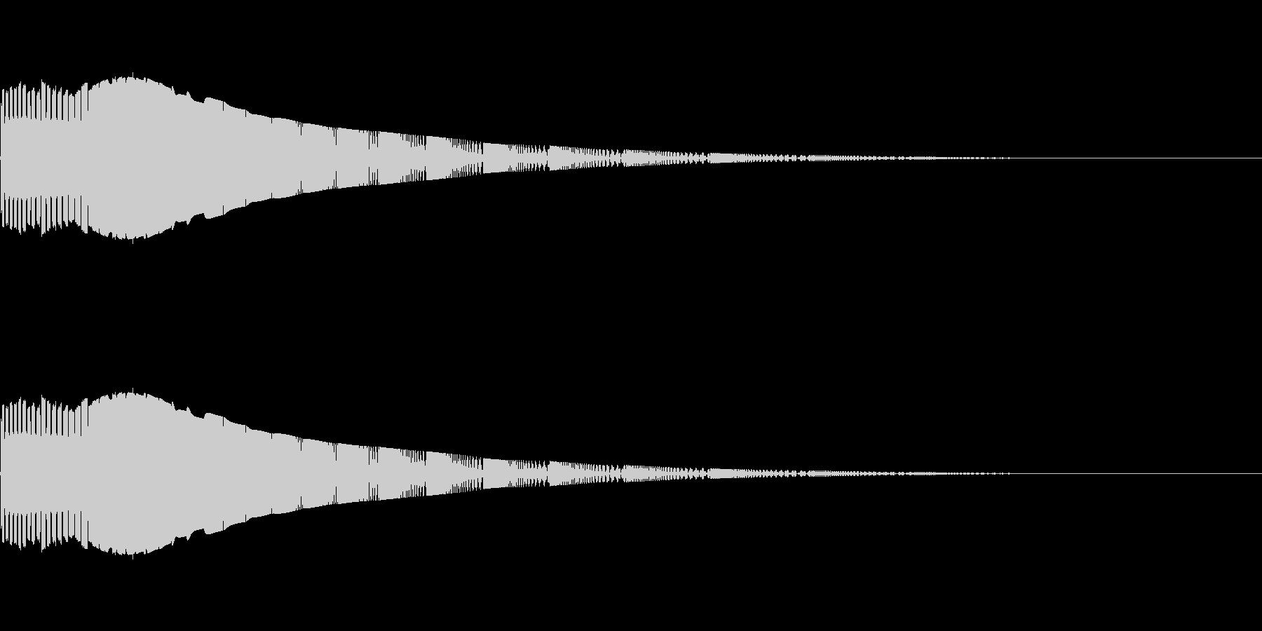 定番なシンセ効果音 1の未再生の波形