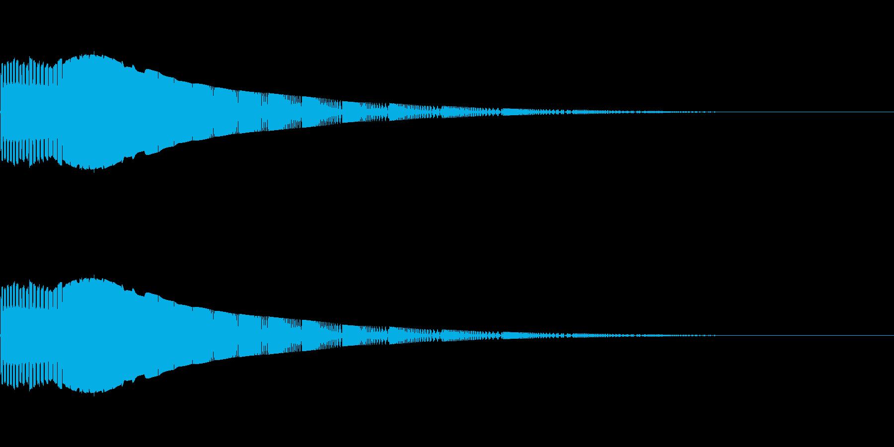 定番なシンセ効果音 1の再生済みの波形