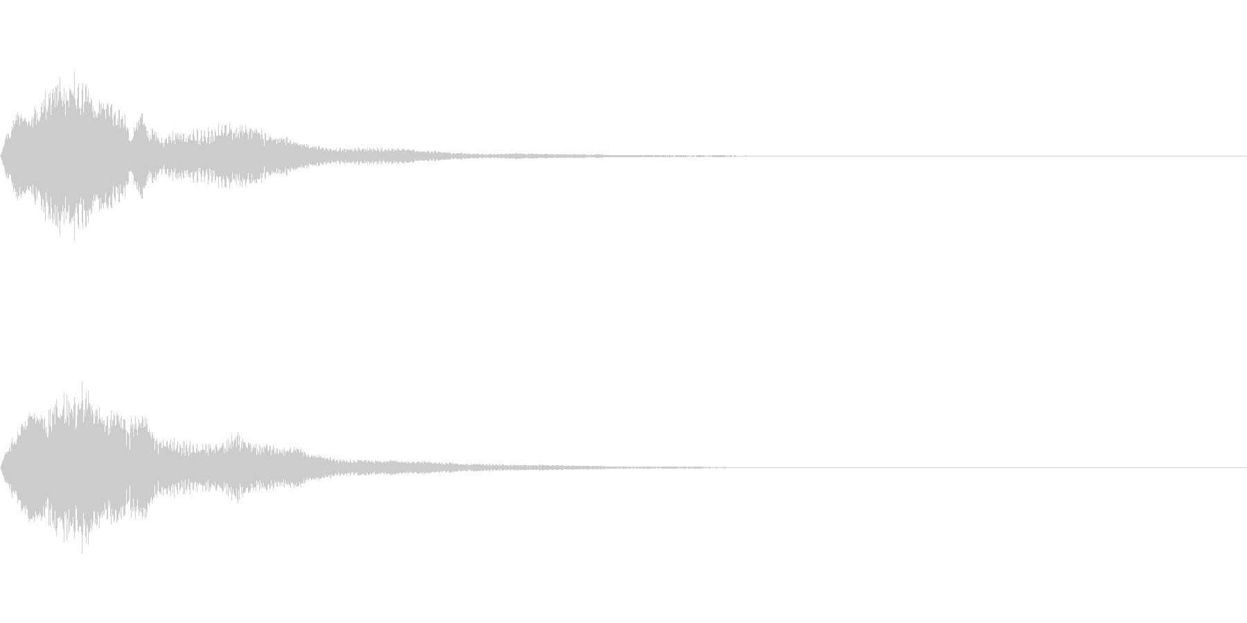 シュイン(ゲーム・アプリ等の決定音)の未再生の波形