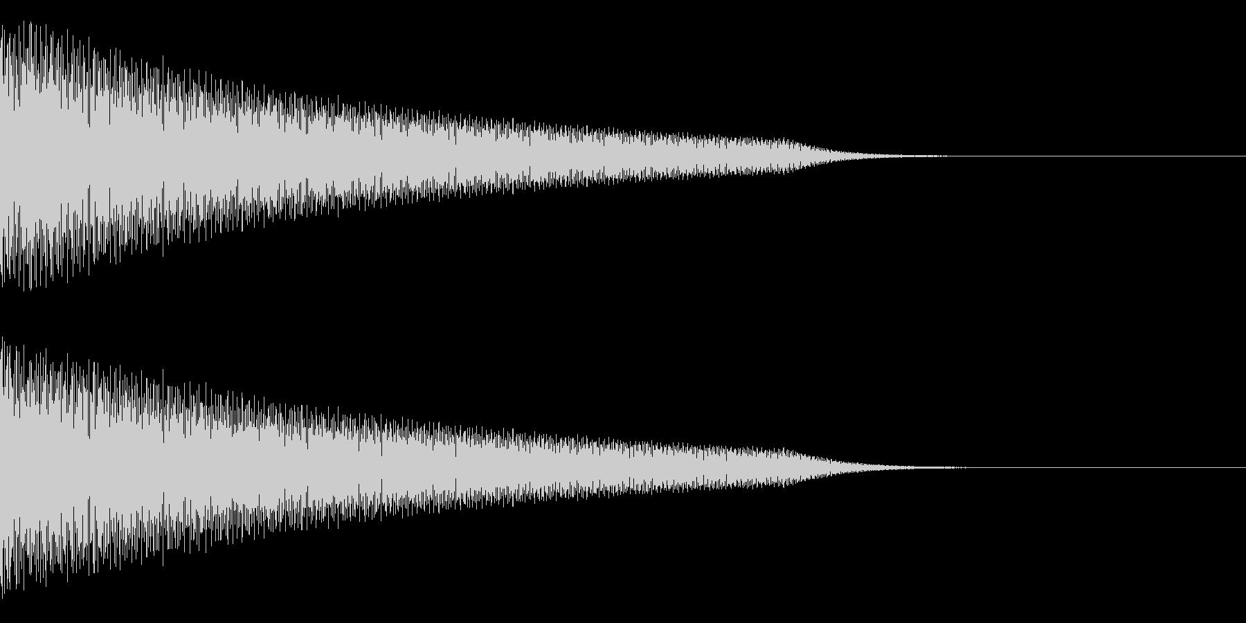 トーーーンの未再生の波形