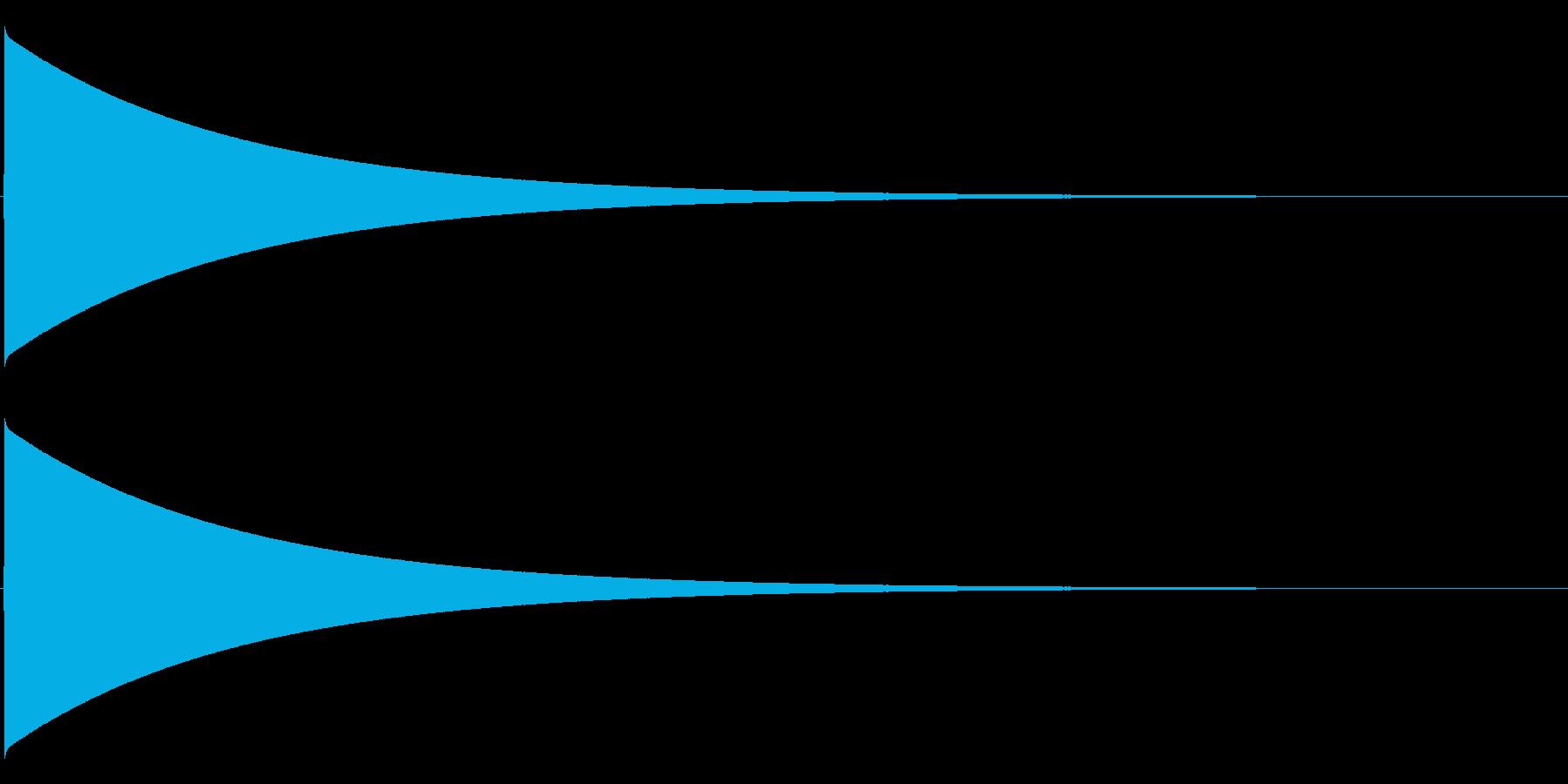 ピューン(落下音、長め)の再生済みの波形