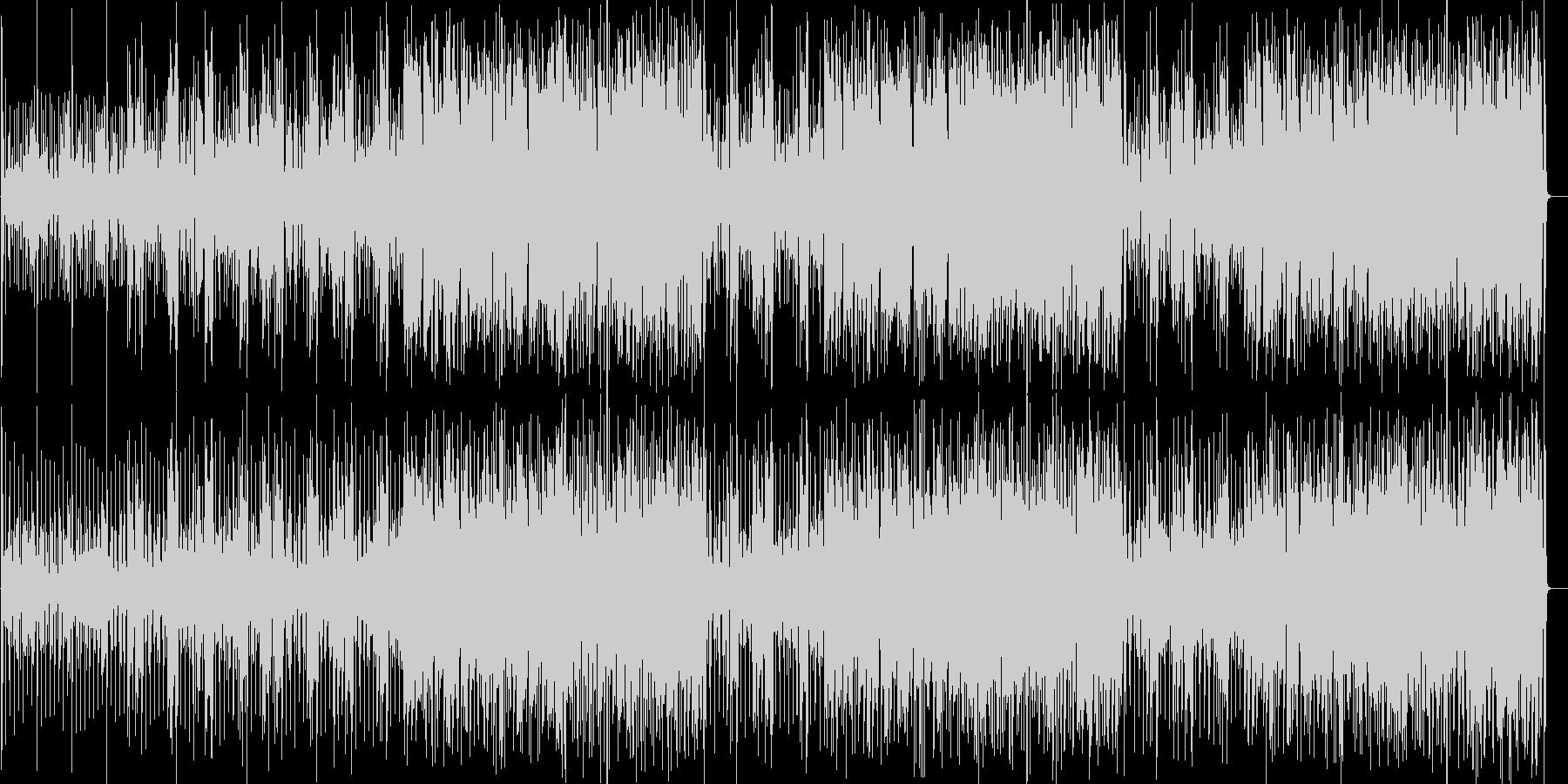 可愛らしいピアノのインスト曲の未再生の波形