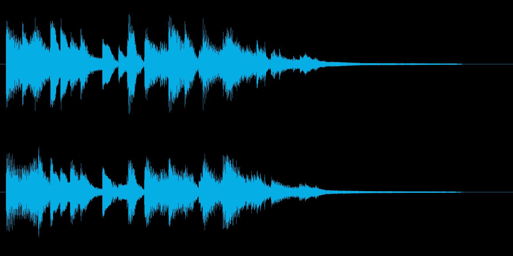ジャズティスト、エレガントピアノジングルの再生済みの波形