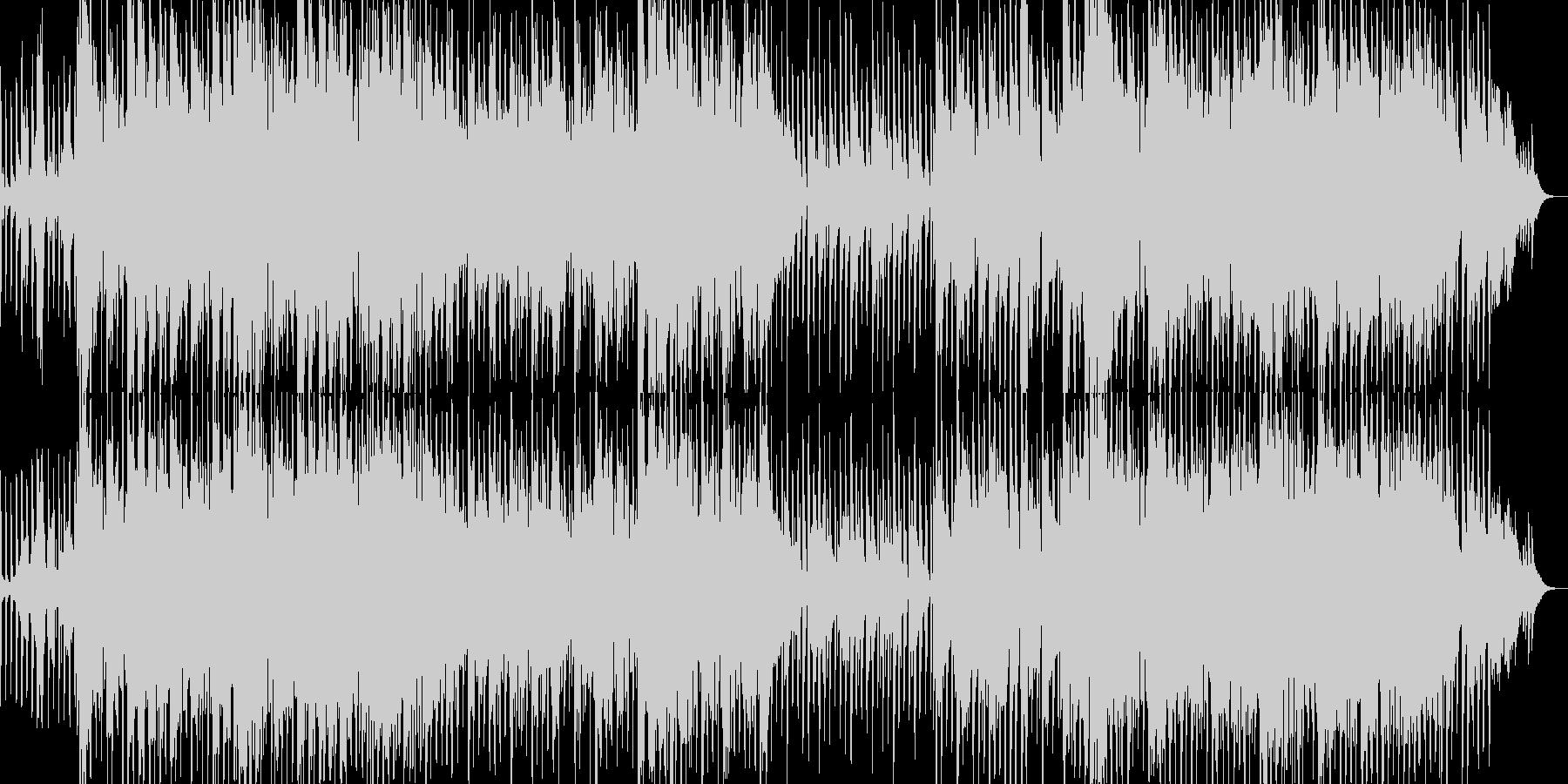 テンポの良い勇壮な曲の未再生の波形