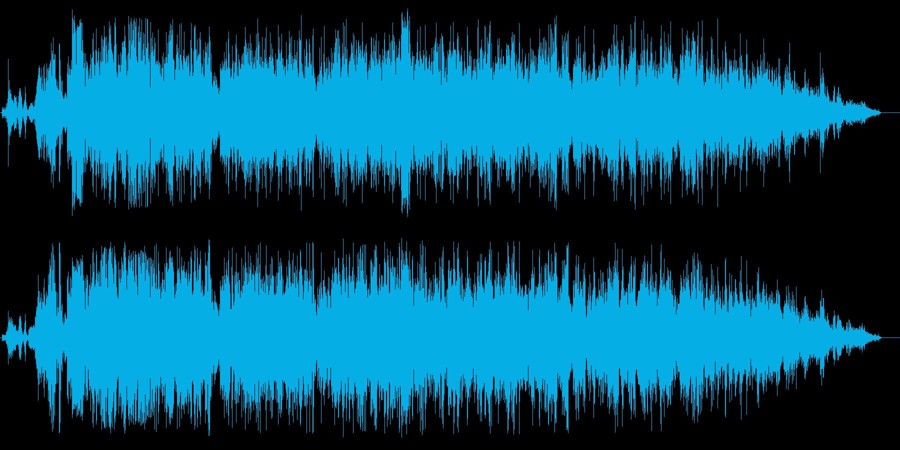 トイレで水を流す音(蓋を閉める音付き)の再生済みの波形
