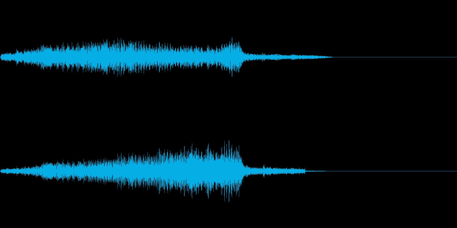 ジャッ(ジッパー)の再生済みの波形