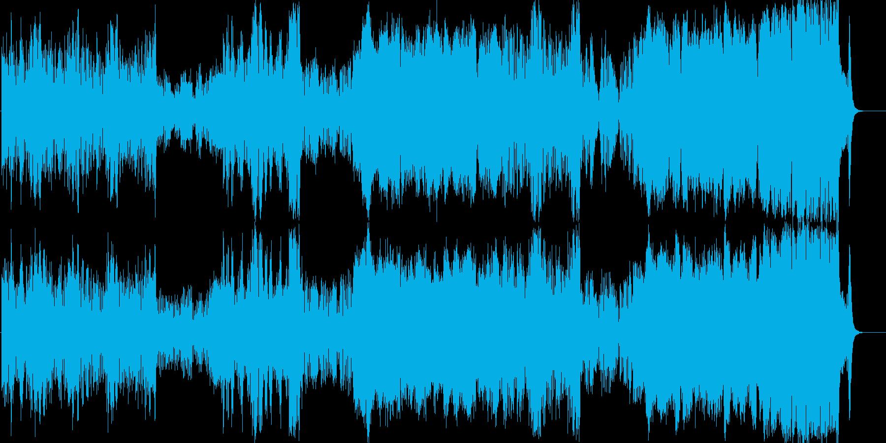 ファンタジー 街 城 冒険 オーケストラの再生済みの波形