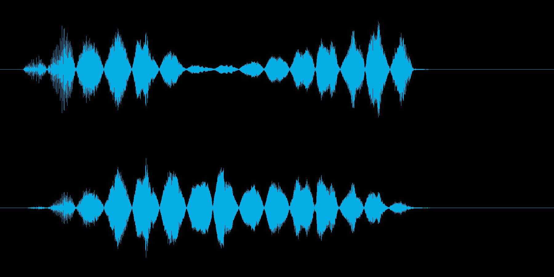 コミカルな動きの再生済みの波形