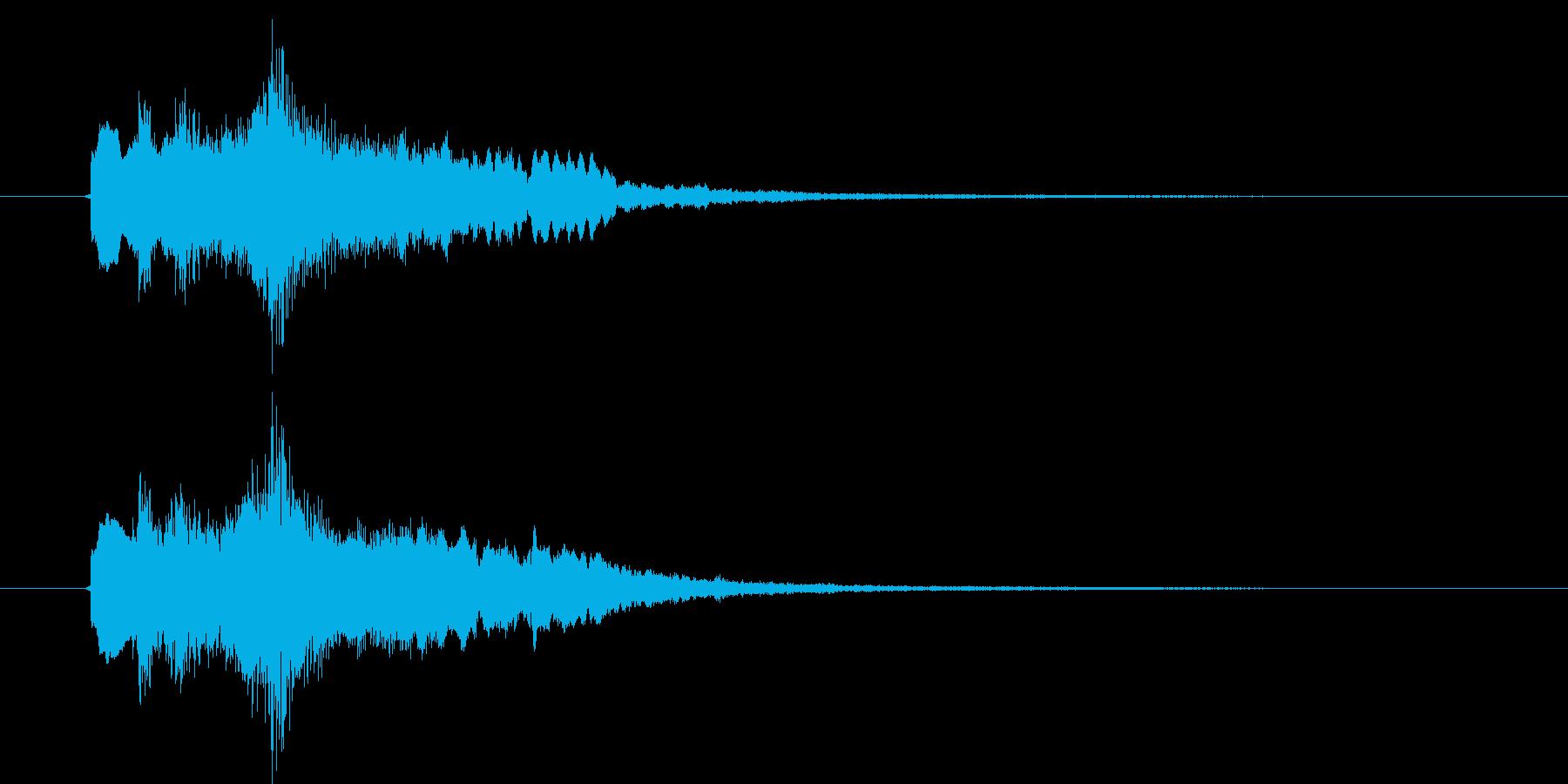 切ないピアノとバイオリンによるバラードの再生済みの波形