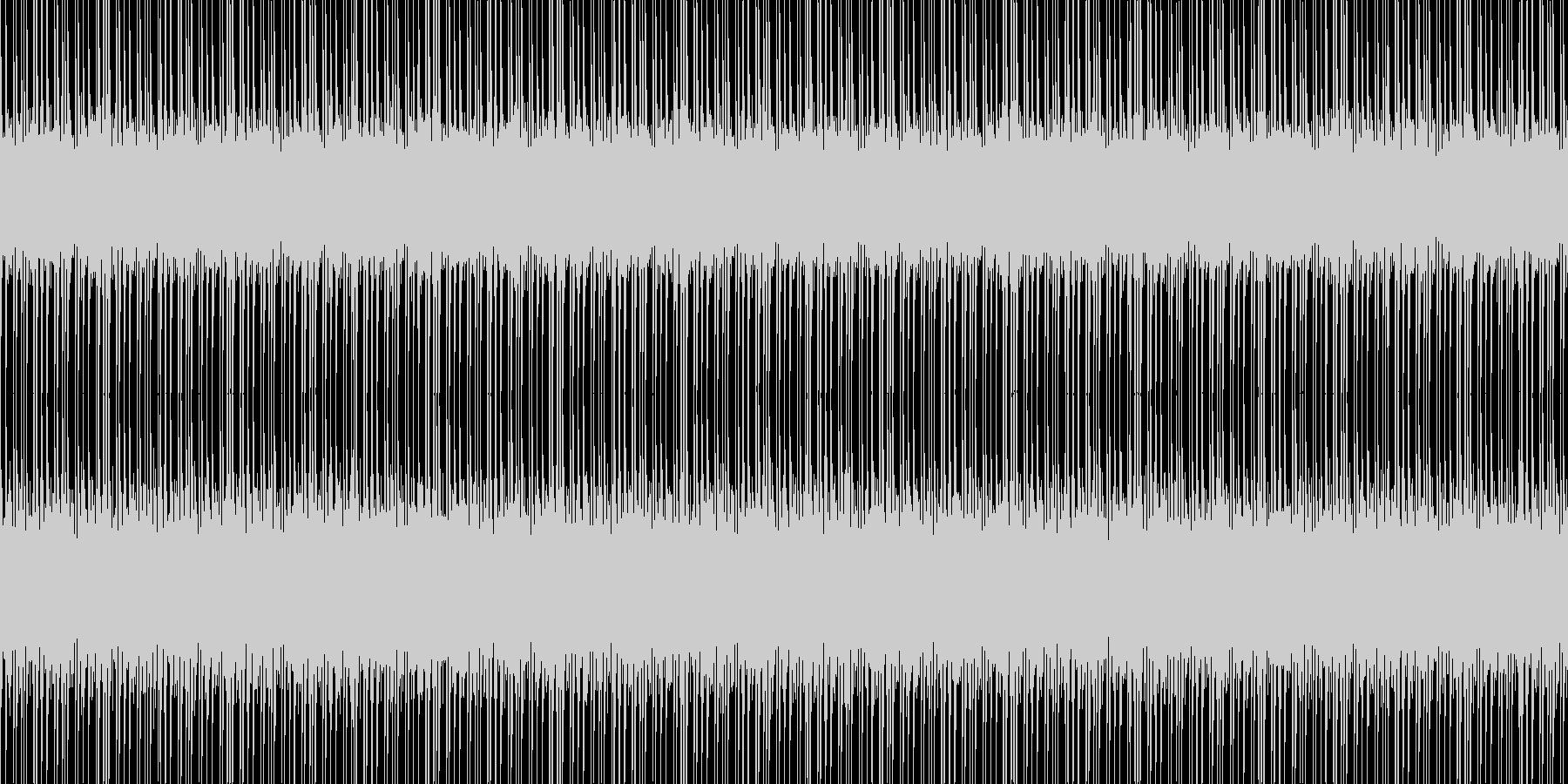 サイバーシティの未再生の波形