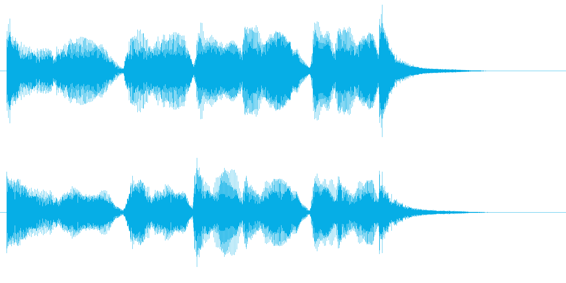 スリルあるリアルオーケストラジングル。…の再生済みの波形
