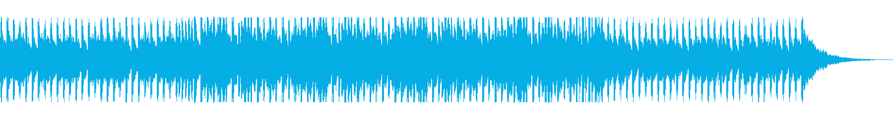 さわやかでノリのいい曲の再生済みの波形