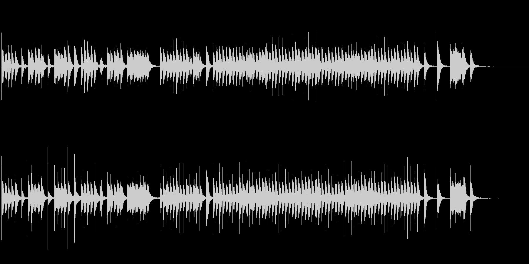 NHK教育テレビ風のコミカルなピアノ曲の未再生の波形