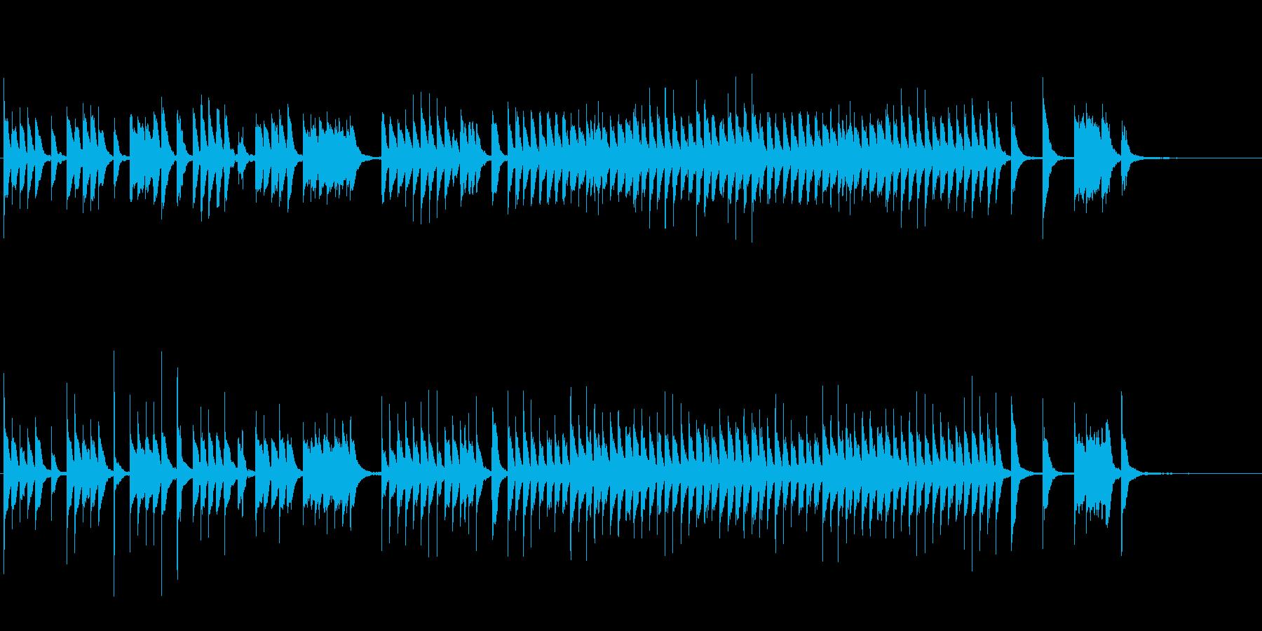 NHK教育テレビ風のコミカルなピアノ曲の再生済みの波形