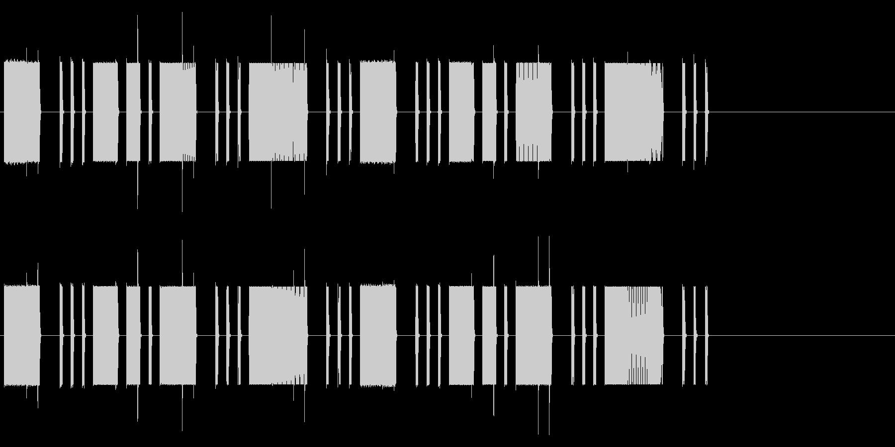 ロボット・コンピューターの異常の未再生の波形