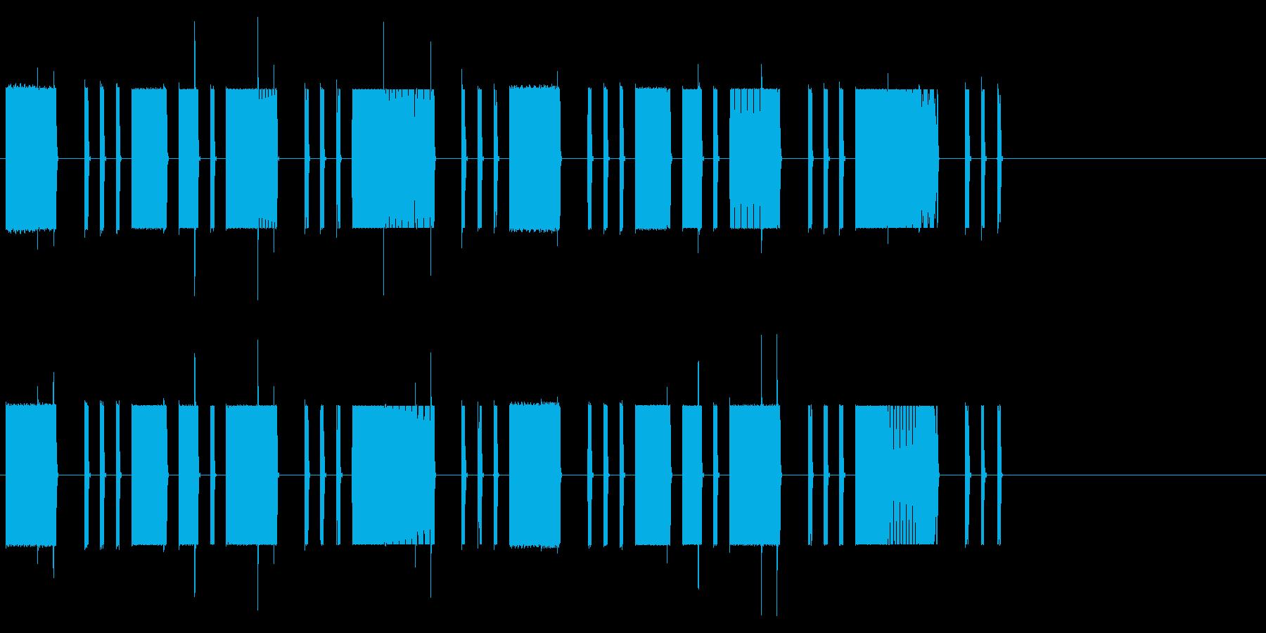 ロボット・コンピューターの異常の再生済みの波形
