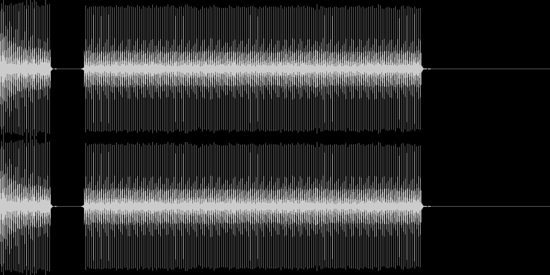 クイズなどの「ブブー」という不正解の音…の未再生の波形