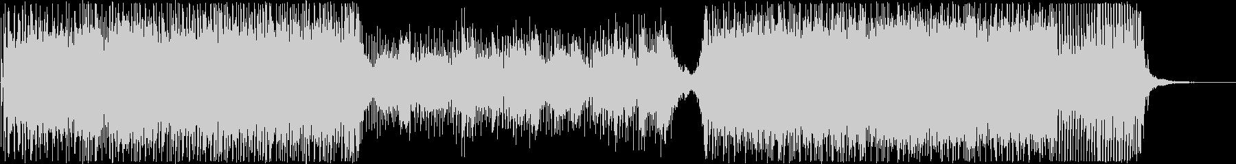 エレクトロなホラー系劇伴の未再生の波形
