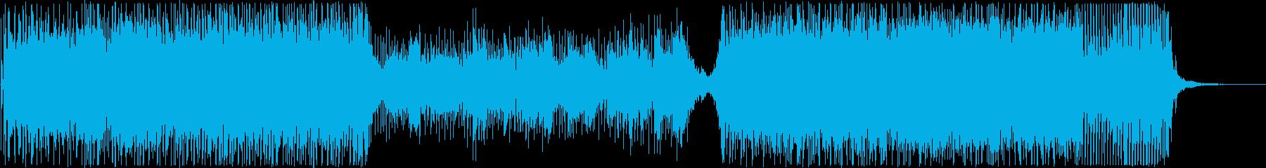 エレクトロなホラー系劇伴の再生済みの波形