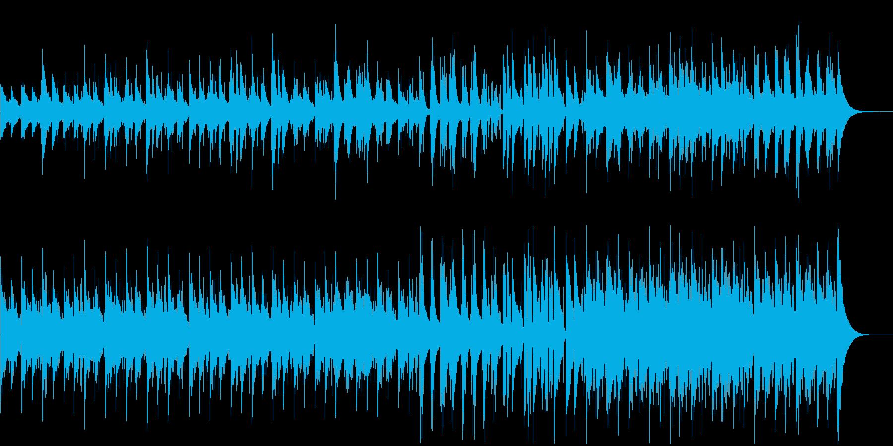 クラシックギターとピアノによる穏やかな曲の再生済みの波形