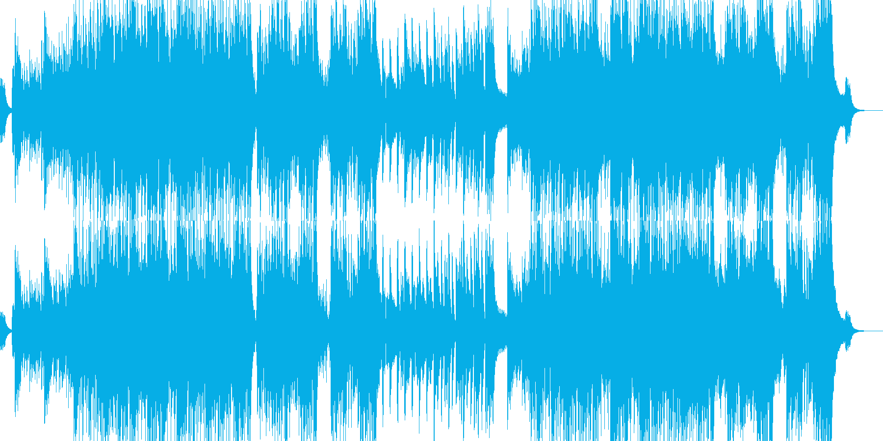 不可思議と螺旋渦巻くイメージの再生済みの波形