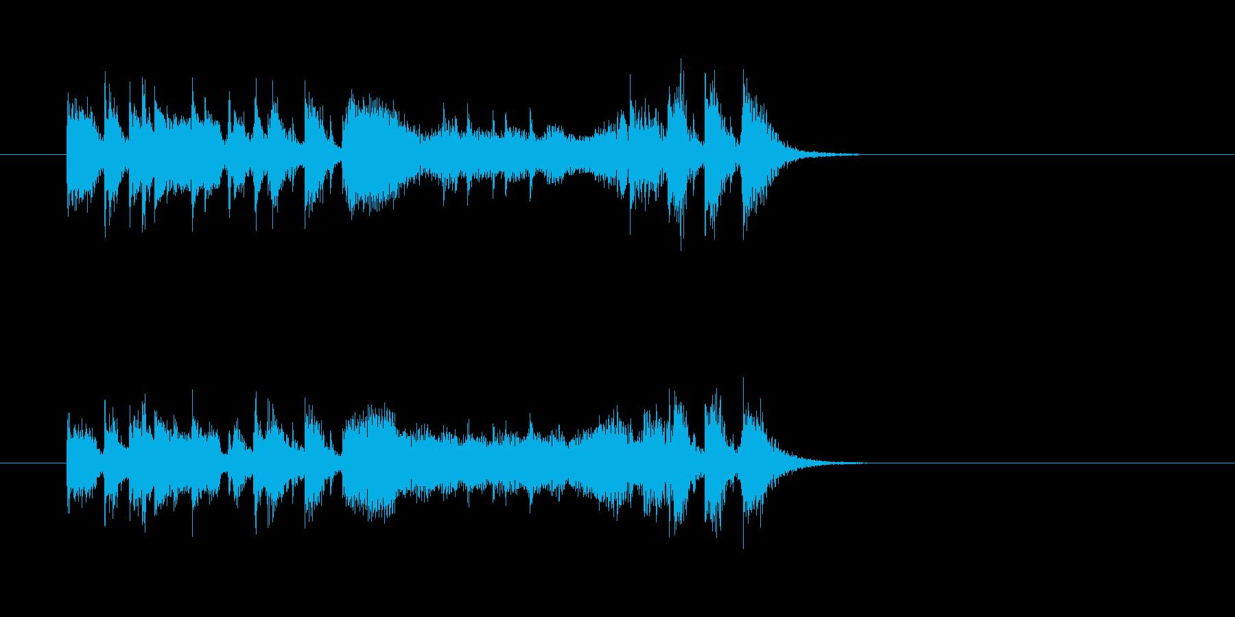 シンセサイザー 報道番組 ニュースの再生済みの波形