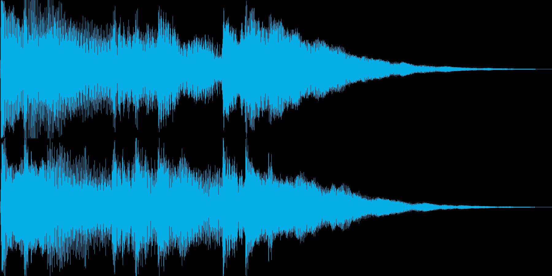 ピアノ音(ゲーム、アプリ、場面転換)の再生済みの波形
