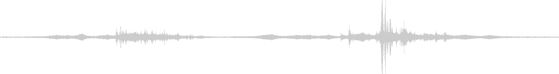 【生音】雷11 - 風と雷と通行音の未再生の波形