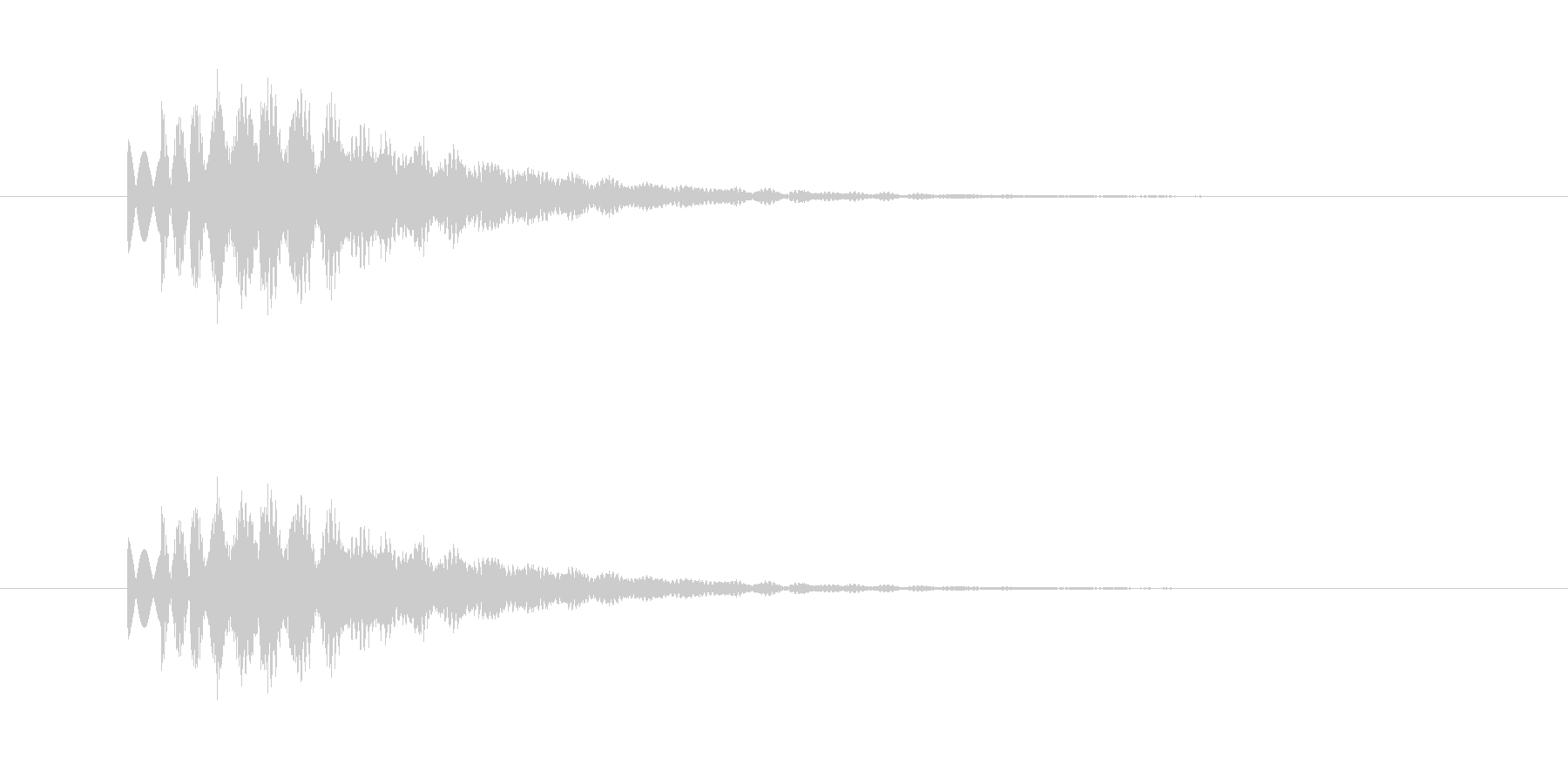 シャララァーンの未再生の波形