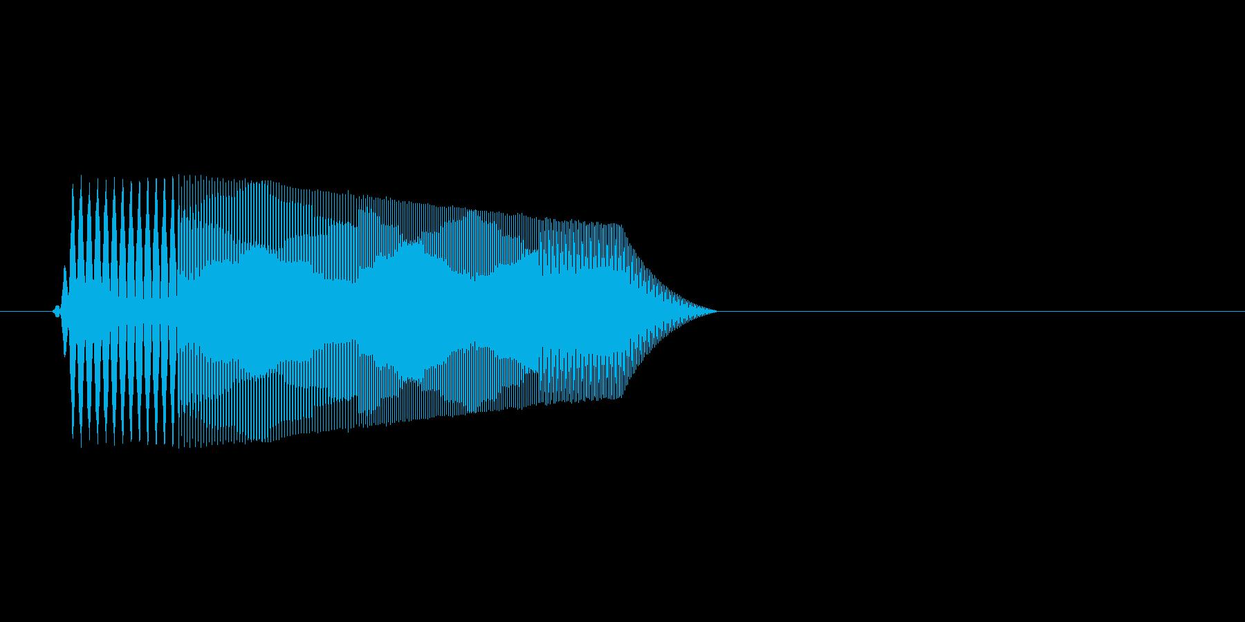 ファミコン風効果音決定音系です 12の再生済みの波形