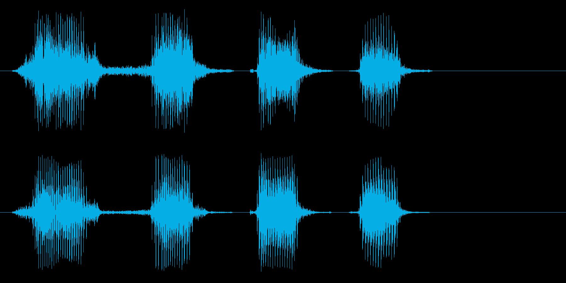 ケケケケという笑い声の再生済みの波形