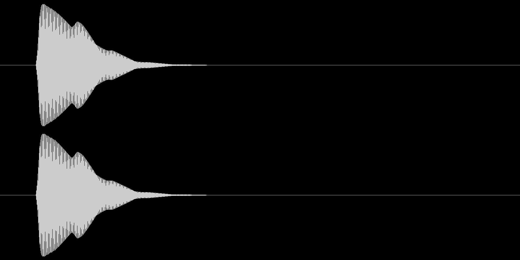 ピッ(カーソル、操作音) 02の未再生の波形