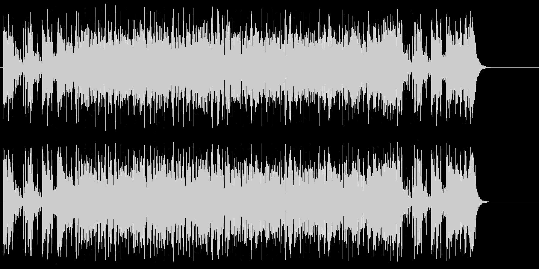 エンディング向け16ビートの未再生の波形