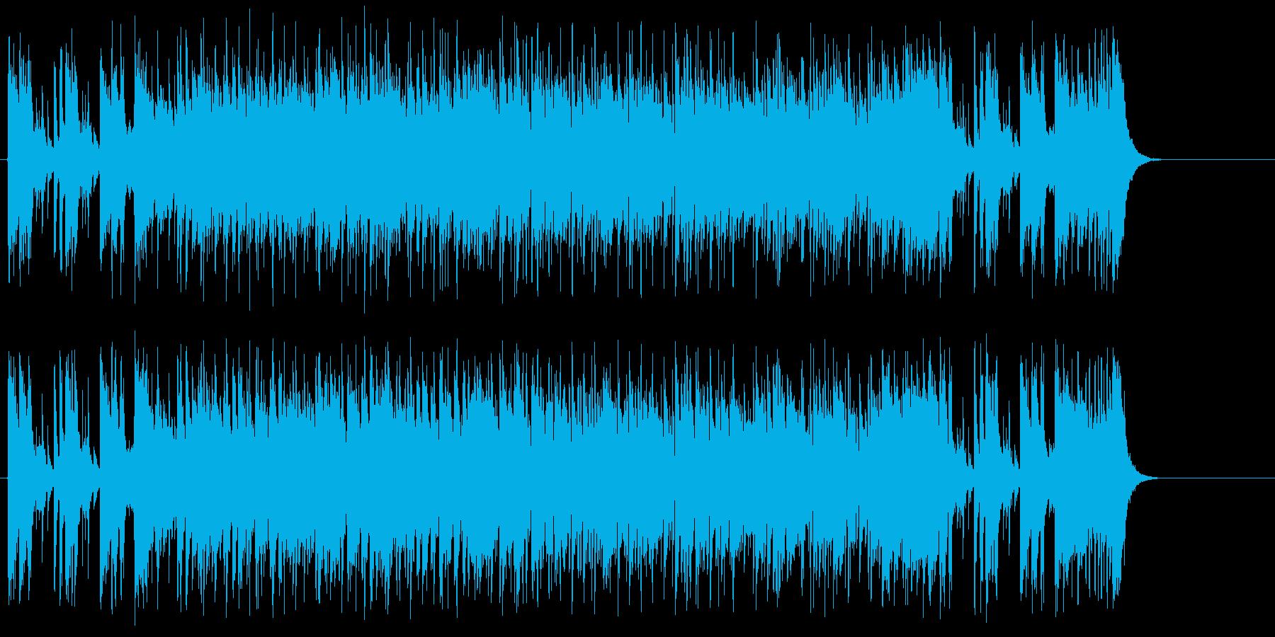 エンディング向け16ビートの再生済みの波形