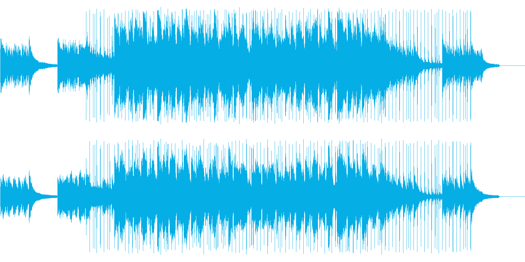 天気予報にぴったりの落ち着いたBGMの再生済みの波形