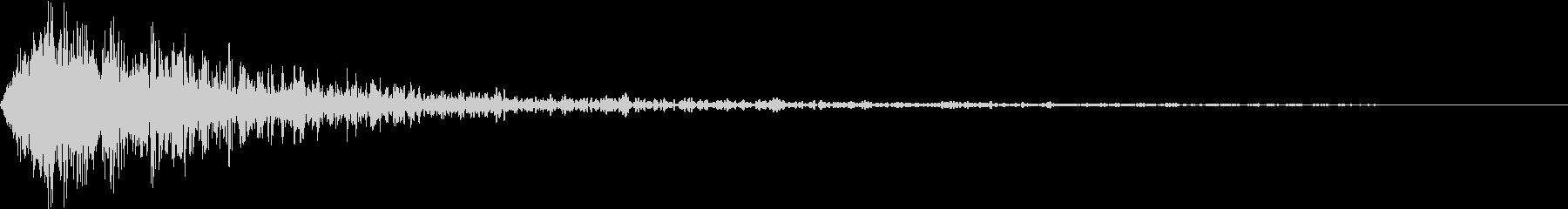 「○月○日ロードショー」のような衝撃音の未再生の波形