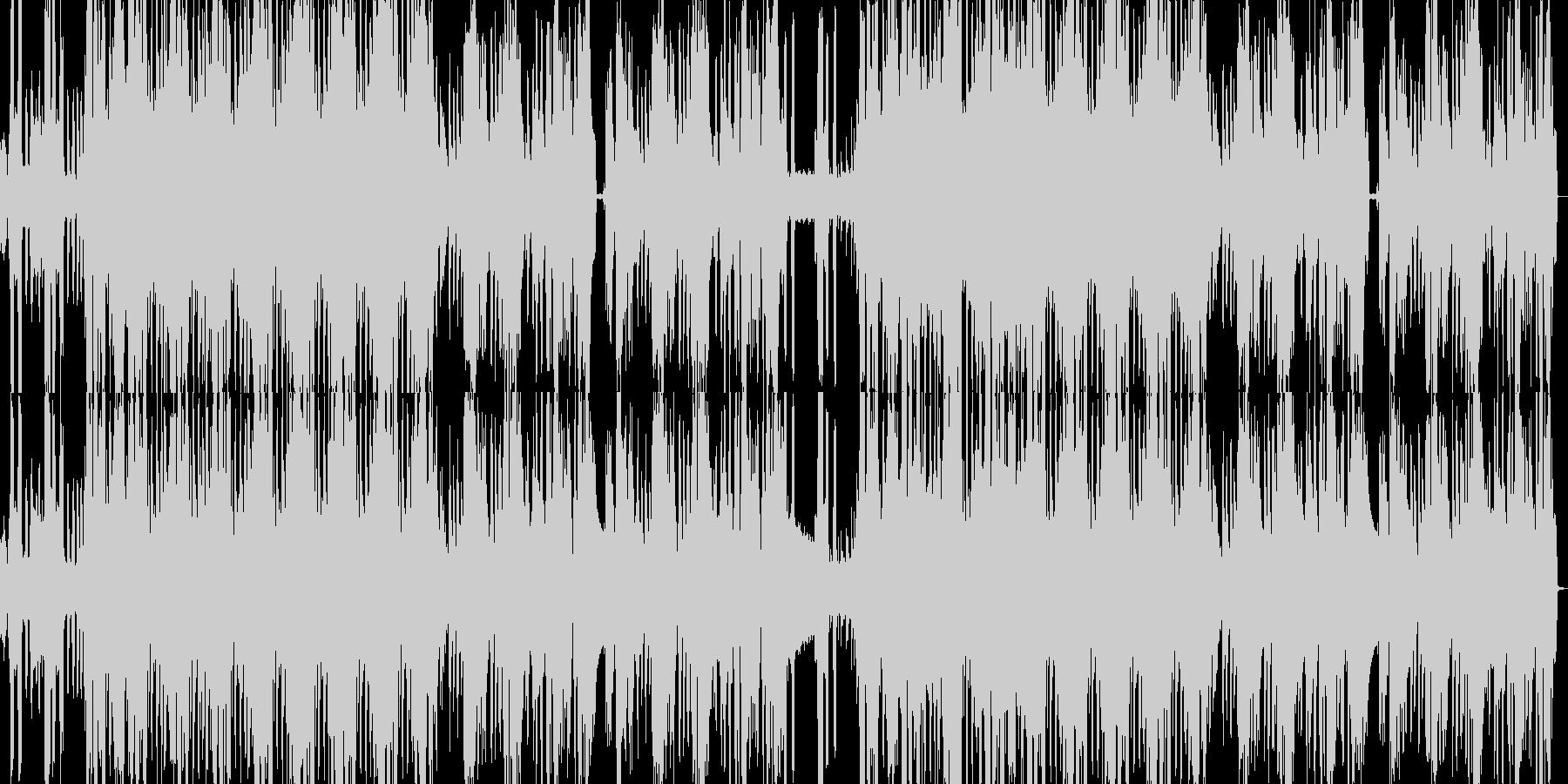 不気味な声とピアノのリズムトラックの未再生の波形