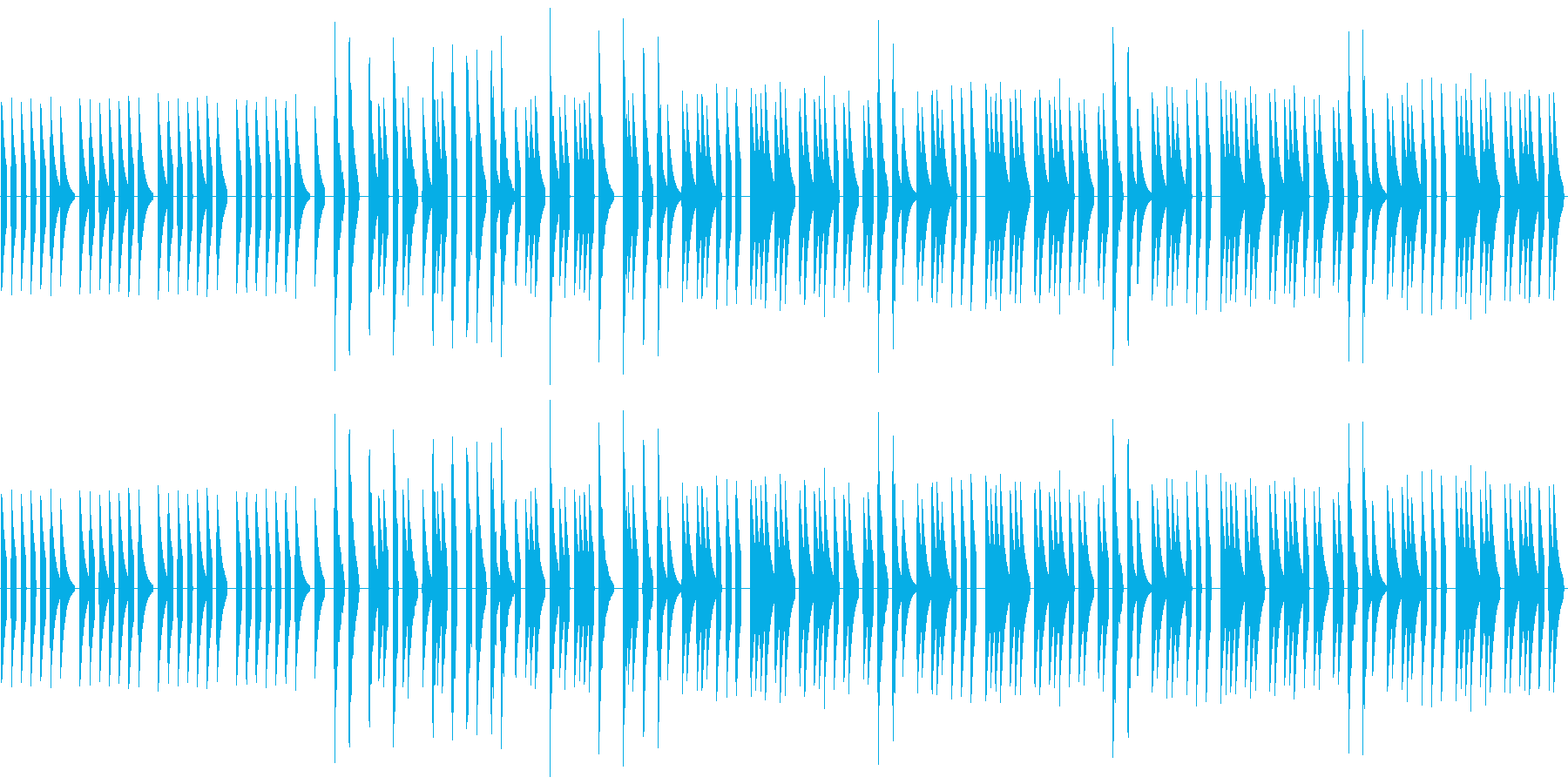 シンセ音一つだけの、メロディーだけの曲…の再生済みの波形