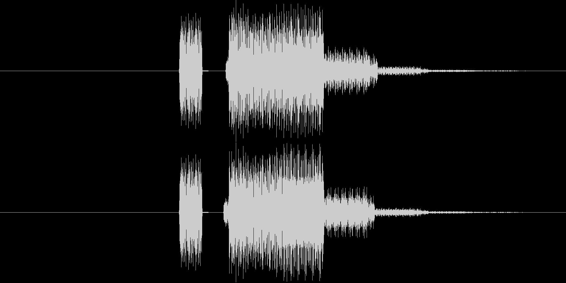 ゲーム等の操作エラー時に使える音02の未再生の波形