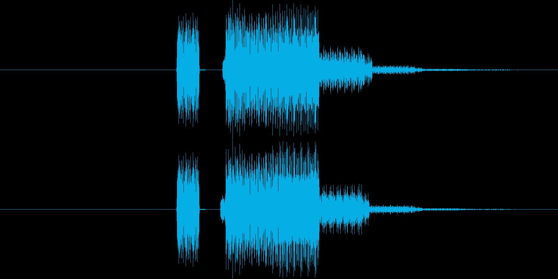 ゲーム等の操作エラー時に使える音02の再生済みの波形