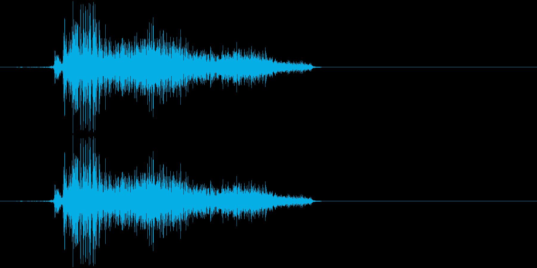 ビリーッ(紙を勢いよく破く)の再生済みの波形